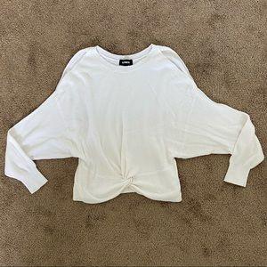 Express Cold Shoulder Twist Front Sweater
